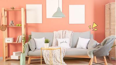 Warna Cat Rumah Bagian Dalam Peach
