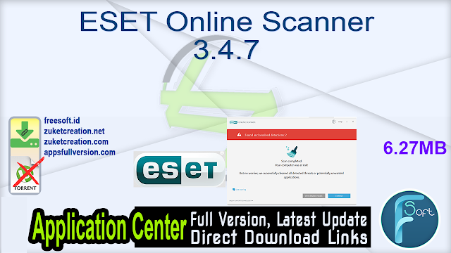 ESET Online Scanner 3.4.7