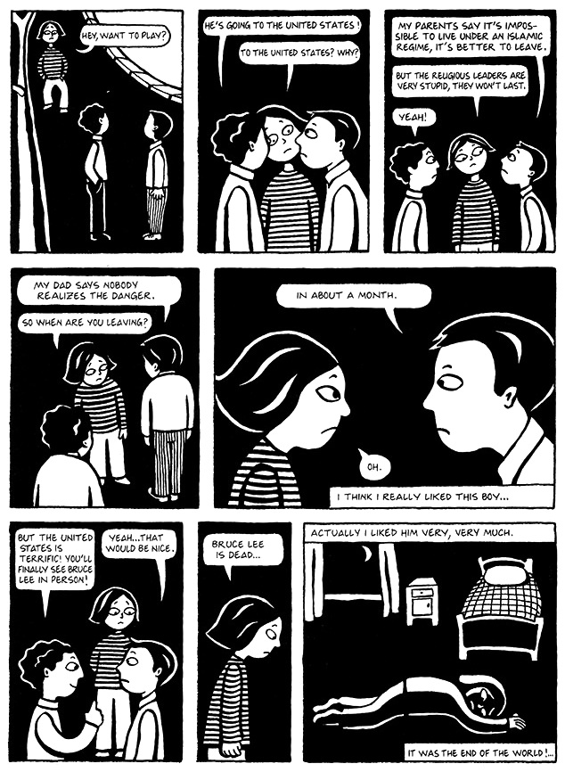 Read Chapter 9 - The Sheep, page 61, from Marjane Satrapi's Persepolis 1 - The Story of a Childhood
