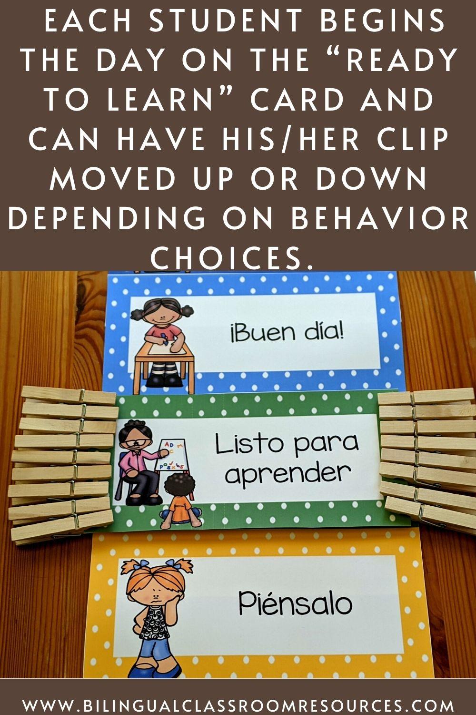 Behavior Clip Chart in Spanish