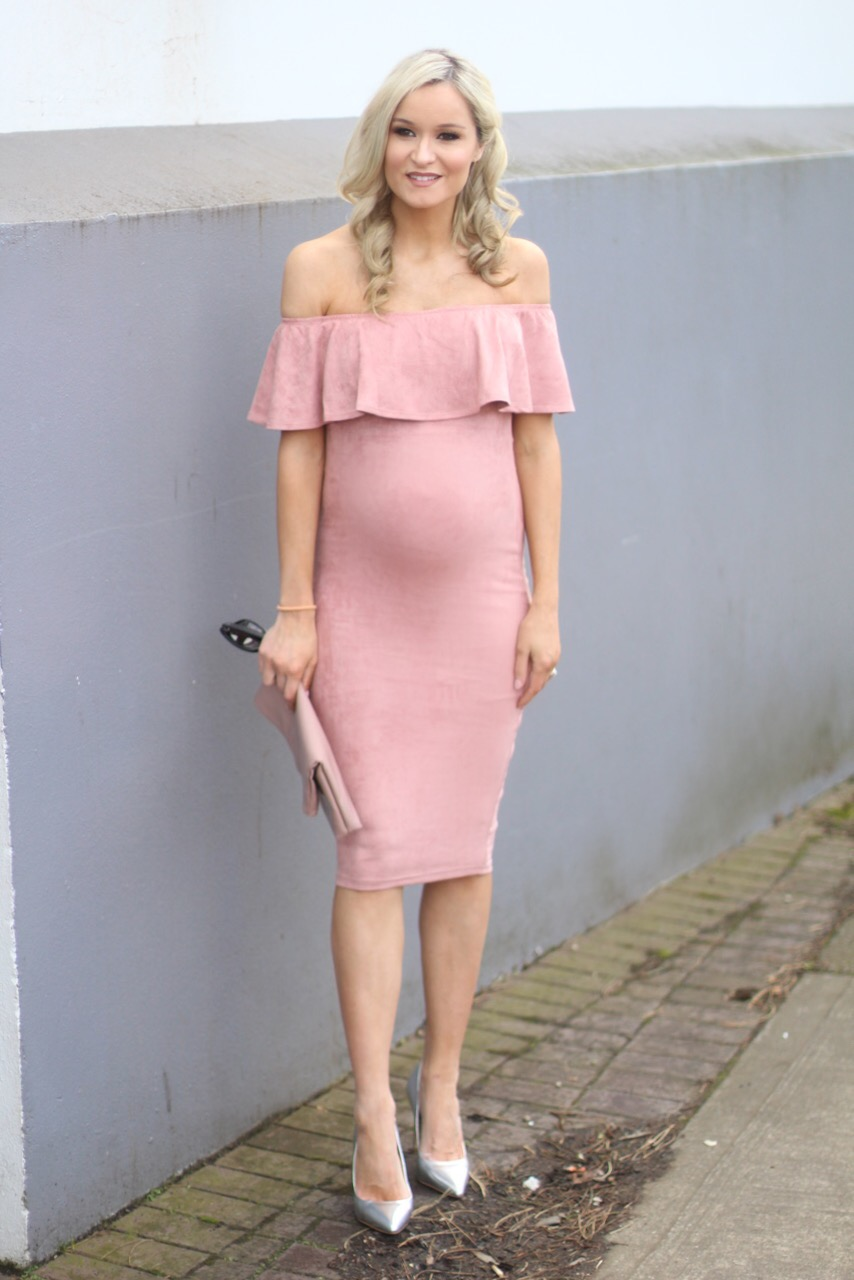 My maternity style martinas mark pink dress you can buy here silver stilettos you can buy here ombrellifo Image collections