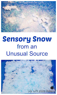 Creating Sensory Snow with the Polymers in Diapers