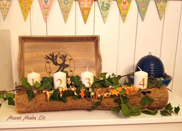 Kerzenhalter alias Adventskranz, Candleholder aka Advent wreath