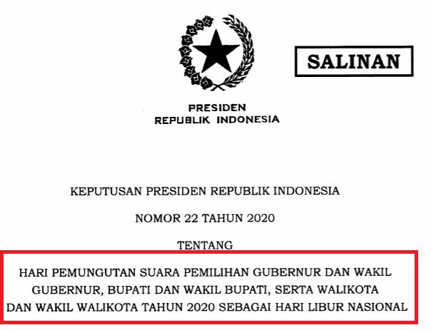 gambar Libur Nasional Tanggal 9 Desember 2020