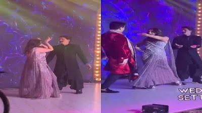Shah Rukh Khan and Gauri Khan dance in Armaan Reception Party