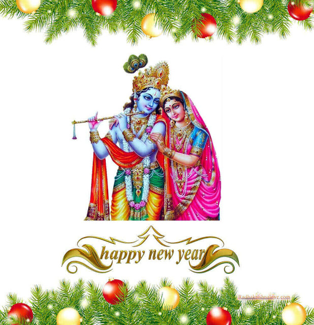 Radha Krishna Happy New Year Wallpaper