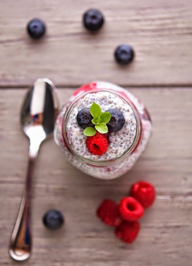 Vanilla Berry Chia Pudding