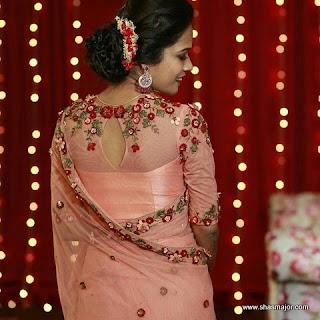 blouse design for plain saree