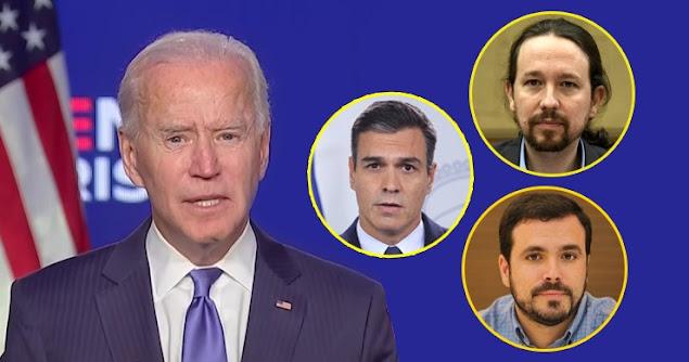 Biden, Sánchez, Iglesias y Garzón