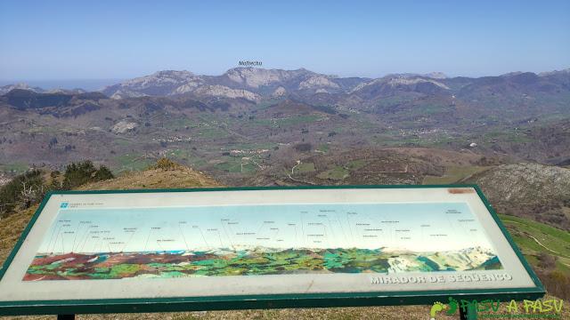 Vista del Mofrechu desde el Mirador de Següencu
