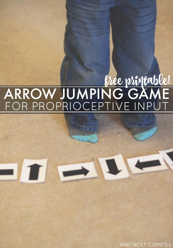 arrow jumping game  free printable