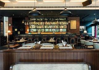 A stylish new restaurant or café