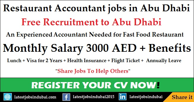 Restaurant Accountant jobs in Abu Dhabi