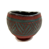 Incised Hand Formed Pinch Pot