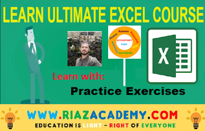 Learn Ultimate Excel Course  with Practice Exercises