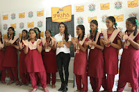 Actress Priya Anand in T Shirt with Students of Shiksha Movement Events 36.jpg