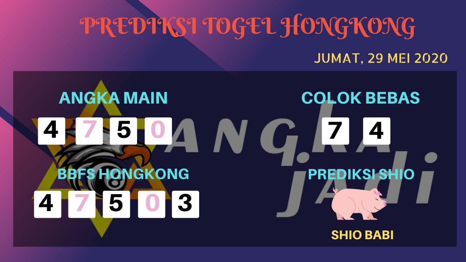 Prediksi Togel Hongkong Jumat 29 Mei 2020 - Bocoran HK