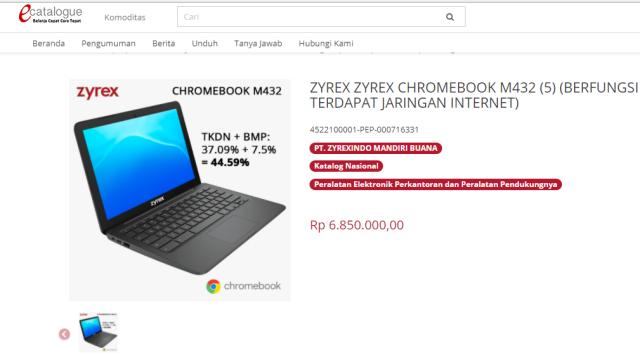 Laptop Zyrex Produk Lokal, Aturan TKDN Bolehkan Harga Pengadaannya Lebih Mahal?
