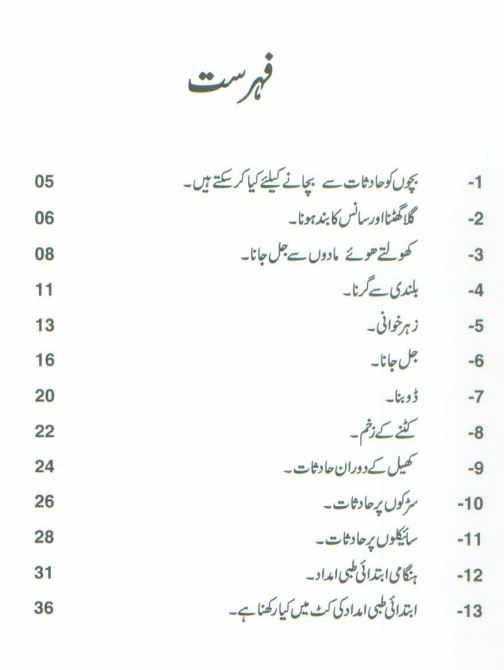 Safety Home Kids Urdu