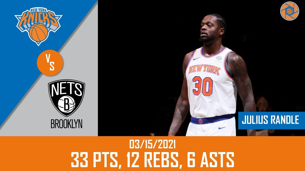 Julius Randle 33pts 12reb 6ast vs BRK | March 15, 2021 | 2020-21 NBA Season