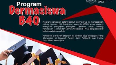 Permohonan Program Dermasiswa B40 2020 Online