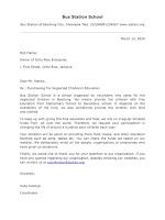 Fundraising Letter Sample