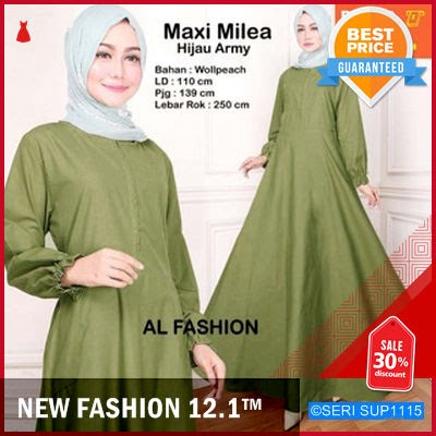SUP1115G31 Gamis Polos Milea Muslimah Cantik Murah BMGShop