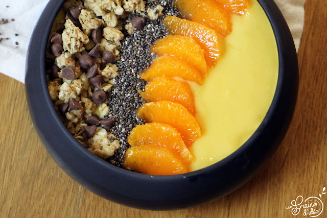 Smoothie Bowl Mangue Lait de Coco Piment Doux Pago