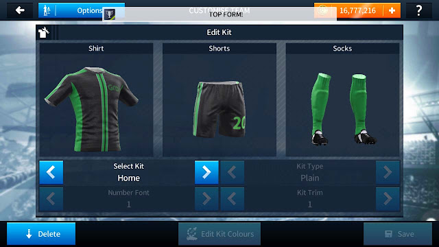 Kit Dream League Soccer Ojek Online Grab