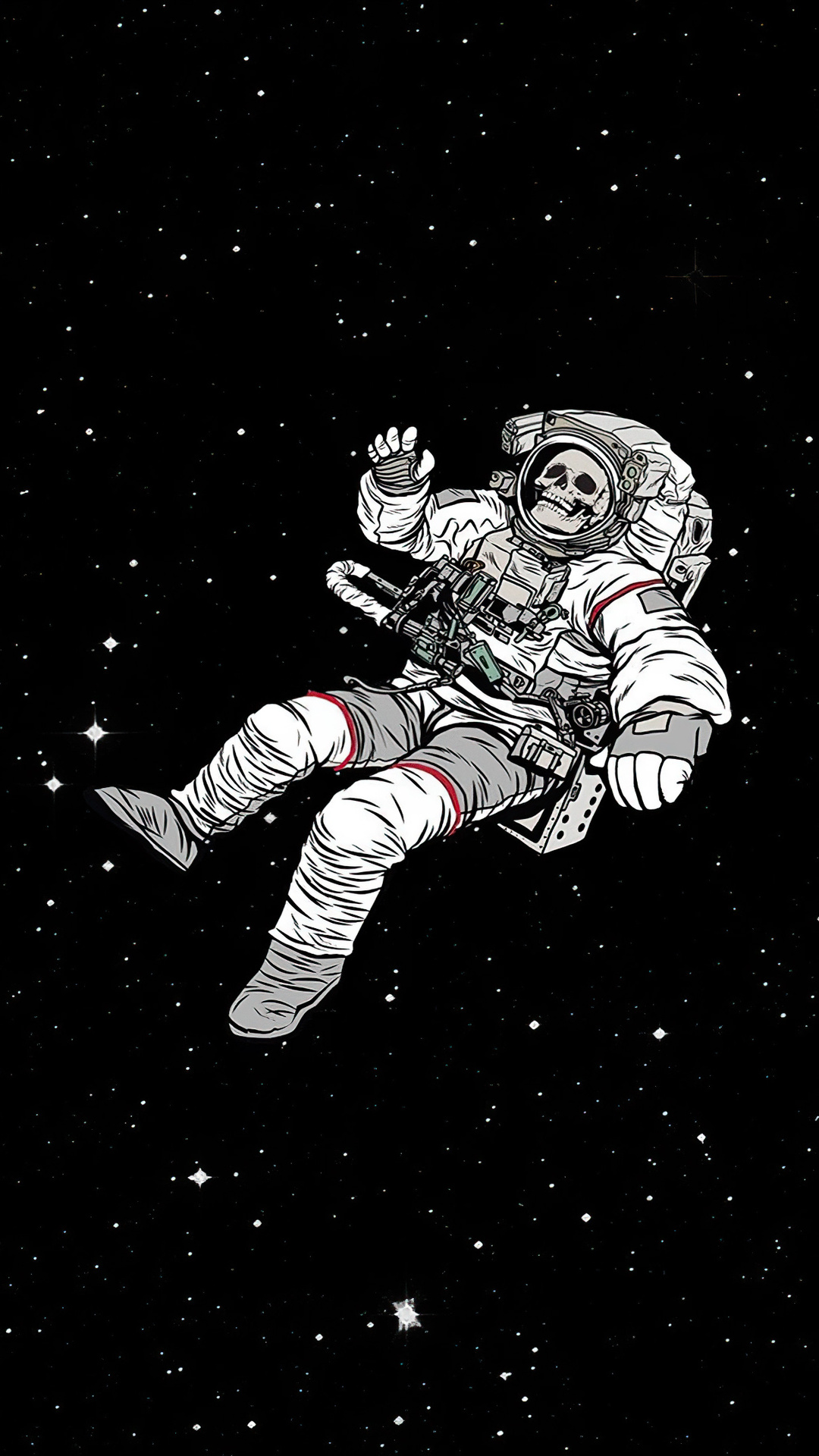 Astronaut Lost In Infinite Space Wallpaper