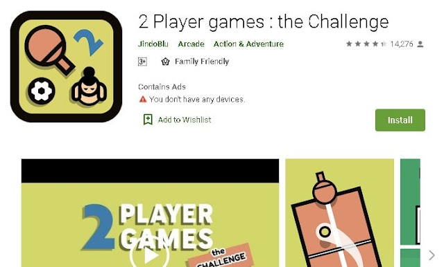 free 2 player android games same device