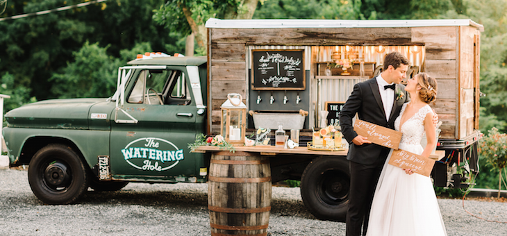 A Colorful Countryside Summer Wedding with a Must-See Mobile Bar Truck
