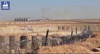 Die türkische Armee mit terroristischen Gruppen greift die Stadt Ain Issa an