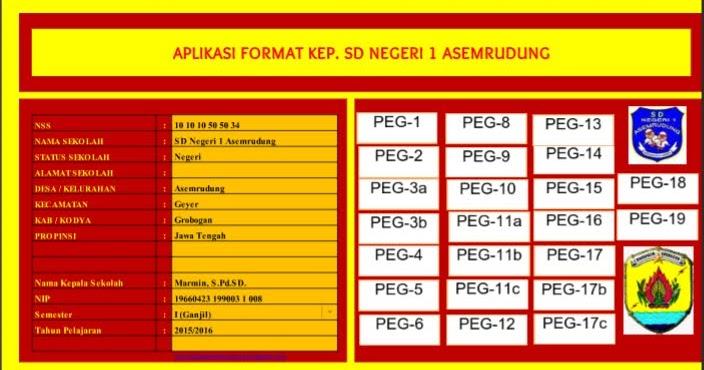 Aplikasi Administrasi Kepala Sekolah Dalam 1 File Excel Berkas Sekolah