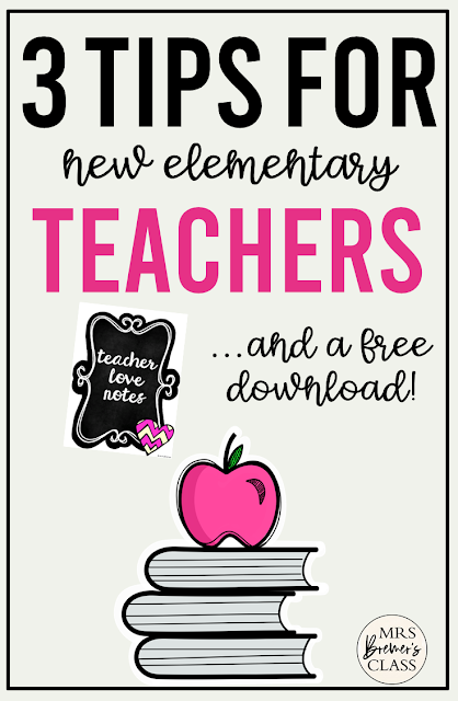 3 Smart Tips for new elementary teachers & a free download! #teachertips #teacherhacks #kindergarten #backtoschool #education #school #newteacher #classroom #classroomsetup
