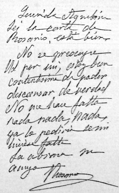 Carta de Rosario de Acuña a Aquilina Rodríguez Arbesú