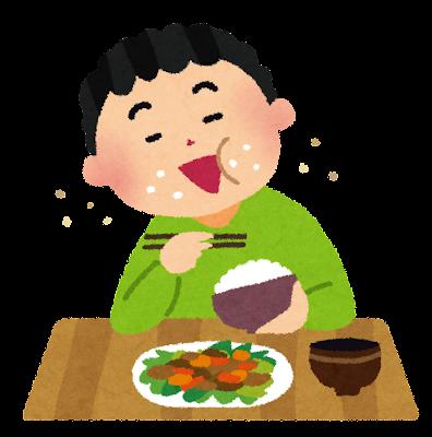 行儀の悪い食事のイラスト(マナー)