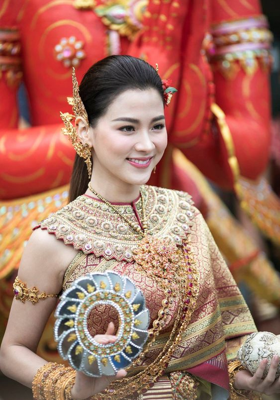 Extreme beauty of 'Thungsa goddess' in Songkran 2019 in Thailand