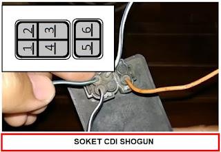 Soket CDI Mio J dan Soket CDI Shogun