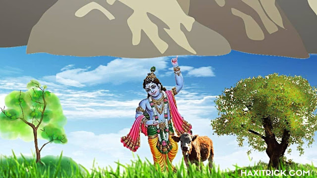 Shree Krishna Leela govardhan Parvat Photo