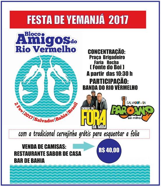 Bloco Amigos do Rio Vermelho este ano terá a participação do Paroano Sai Milho. As camisas já estão se esgotado, garanta logo a sua!