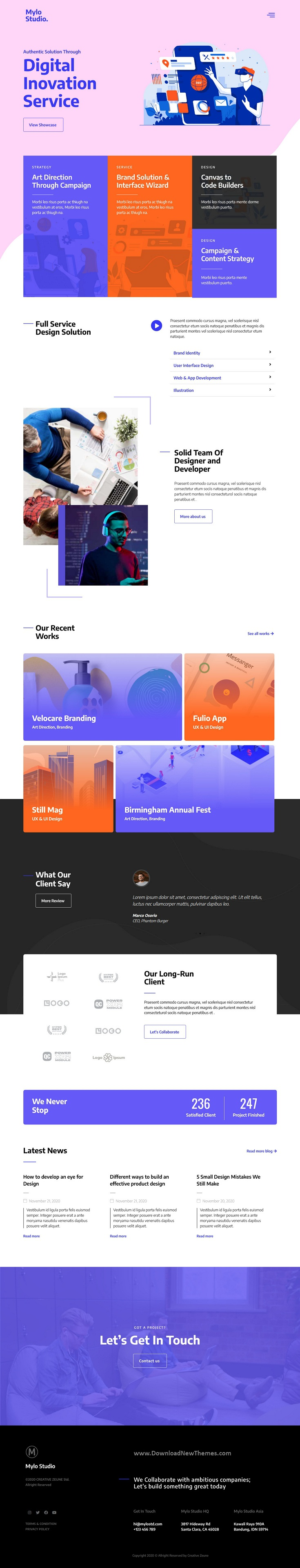 Creative Agency and Portfolio Template Kit