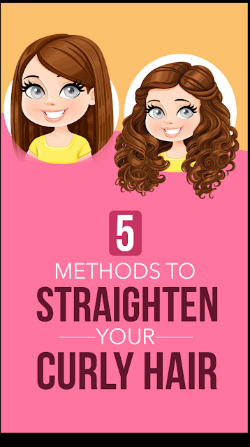 5 Methods To Straighten Your Curly Hair