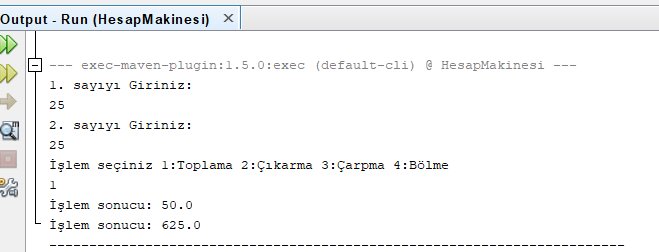 Java - Hesap Makinesi