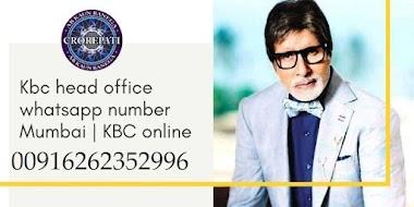 kbc head office whatsapp number mumbai 00916262352996