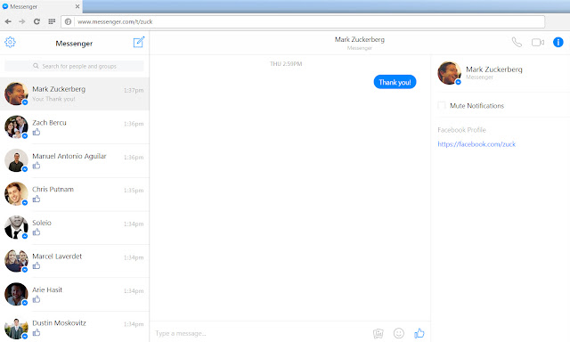 messenger facebook web