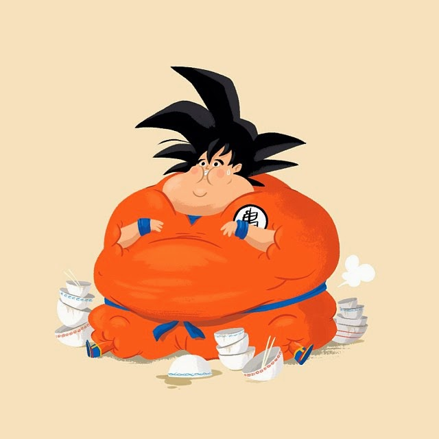 ilustraciones dragon ball-dragon ball-dragon ball graciosos- dragon ball humor