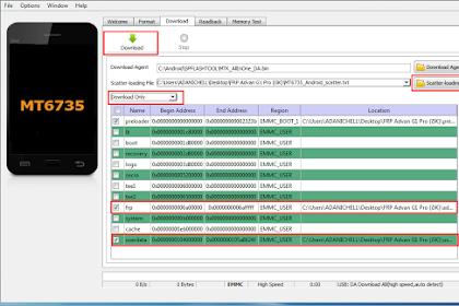 Cara Membuka Pola Frp Advan G1 Pro (i5k) Via Flashtool