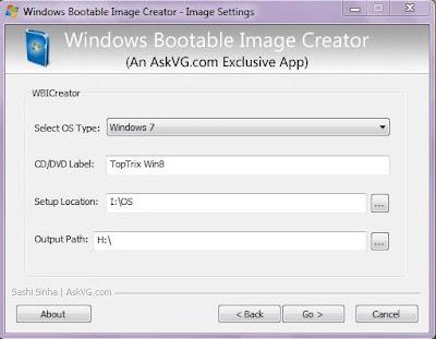 Window Bootable Image Tools