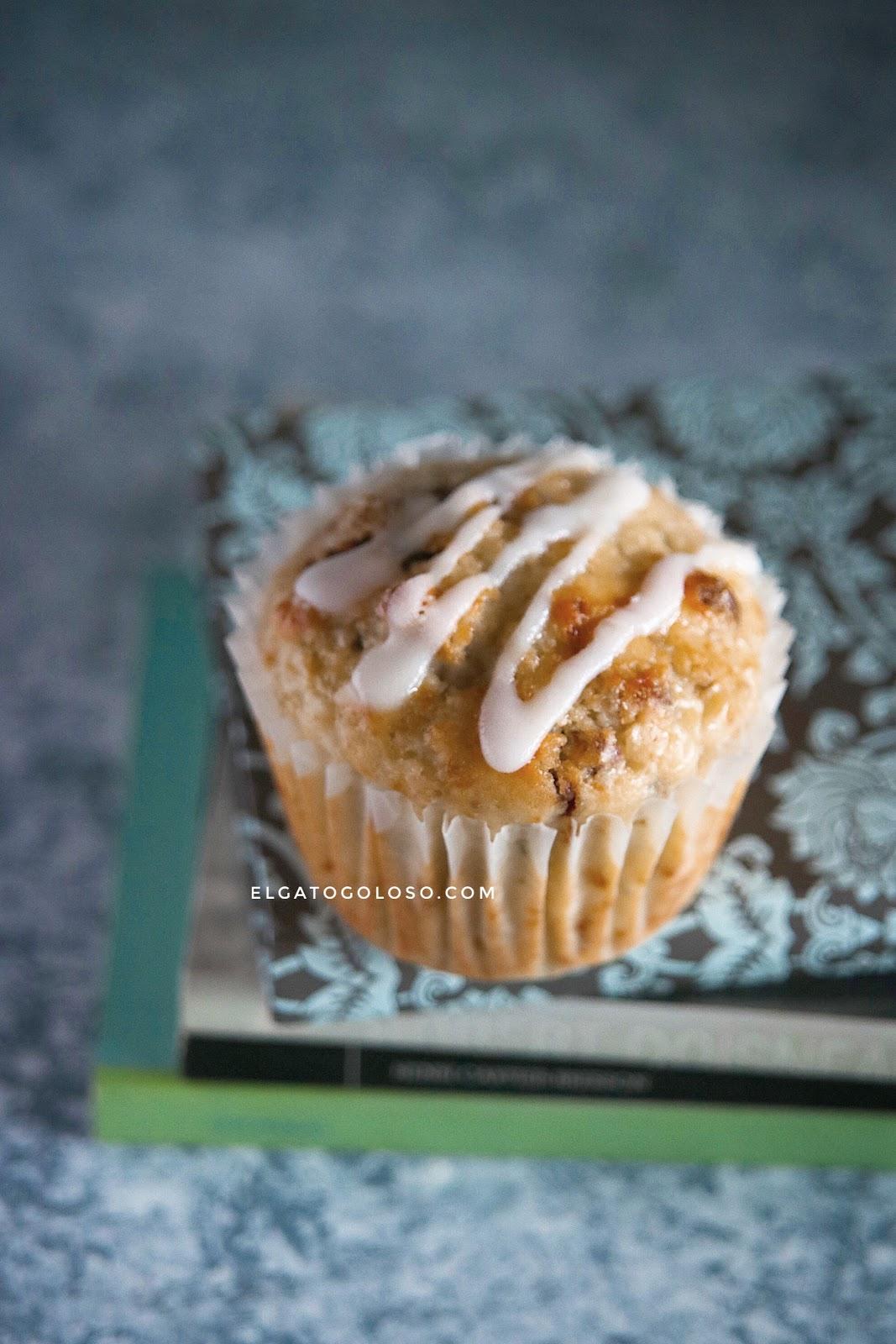 Muffins de calabacín y limón perfectos para la merienda, receta vía elgatogoloso.com